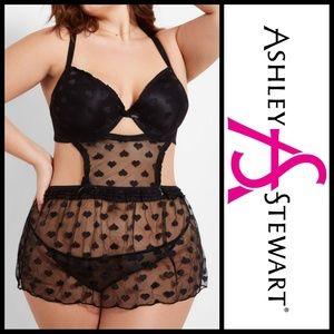 Ashley Stewart Intimates & Sleepwear - 🆕️ Ashley Stewart-Heart Mesh Lingerie Sz 1X